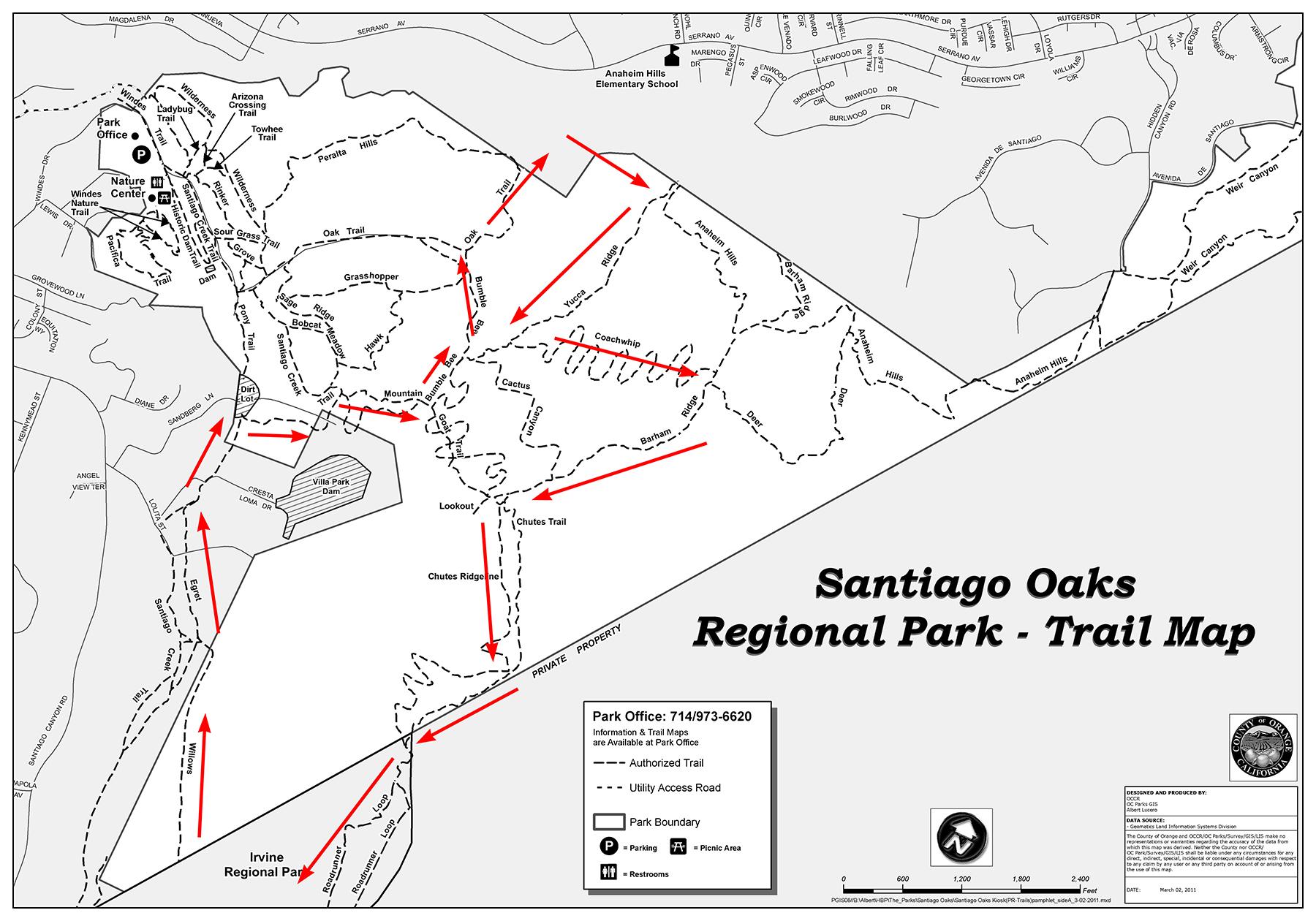 Santiago Oaks race map