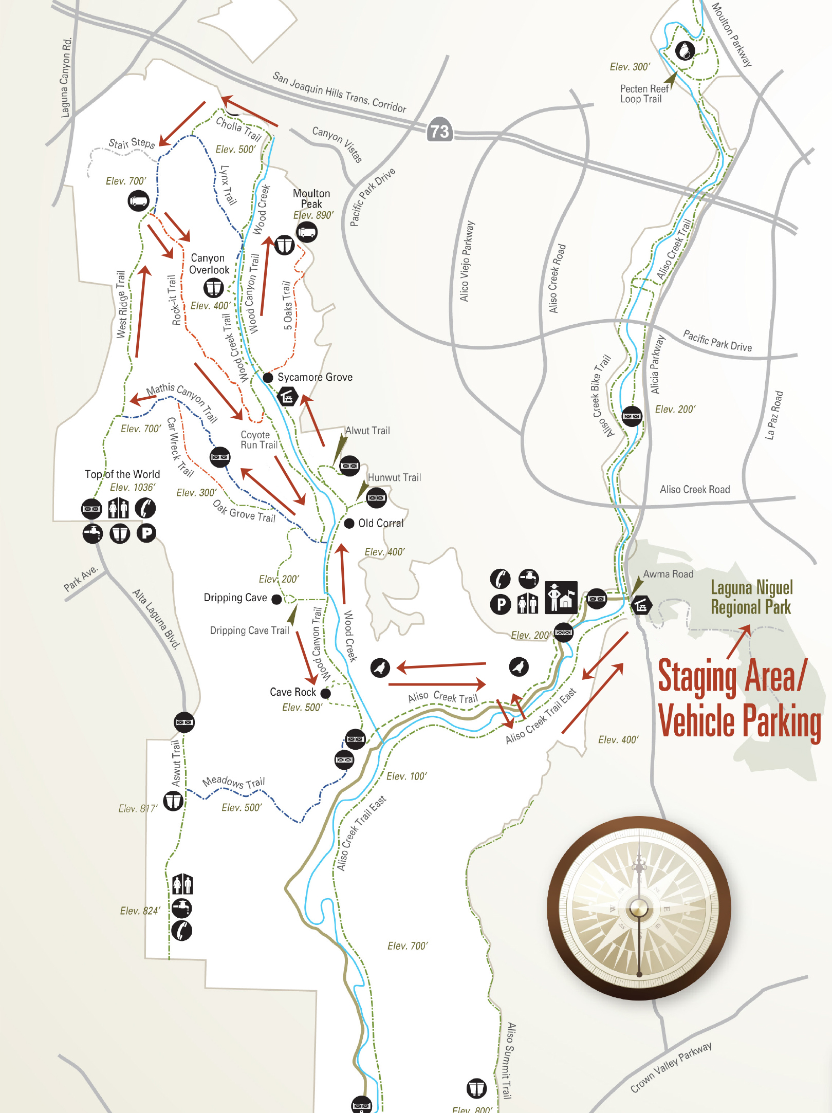 Race Course Map - Aliso Woods