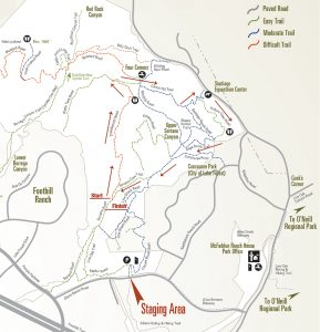 Whiting Ranch time trial map