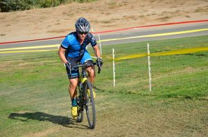 Jeana winning at Cross Bike racing